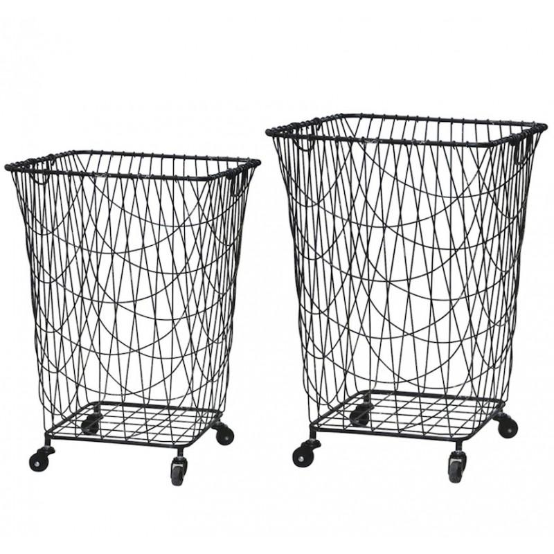 Kurv på hjul - vasketøjskurv