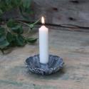 Lysestage til bedelys i Antique Zink