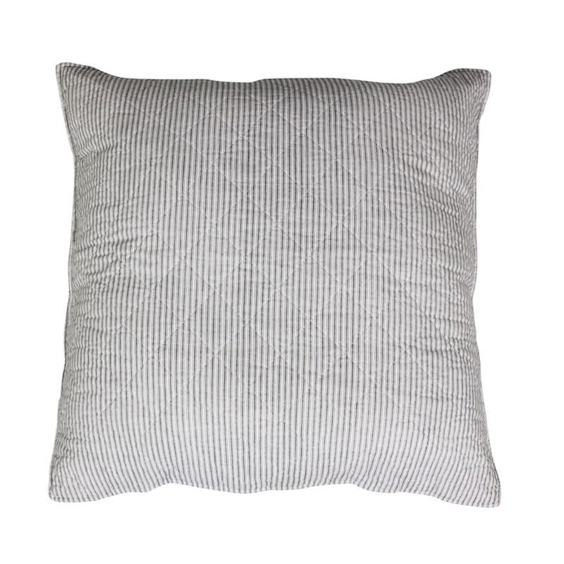 Pyntepude med olmer striber - L60/B60 cm hvid/grå