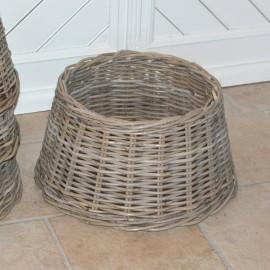 Skjuler til juletræsfod - rattan