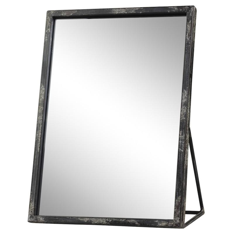 Spejl til bord m. jernramme