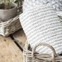 Quilt / vattæppe med gråt mønster - Ib Laursen