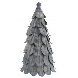 Juletræ i zink look - 20 cm