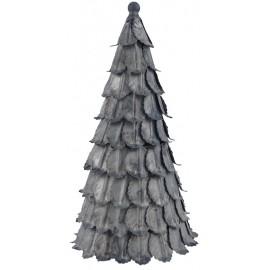 Juletræ i zink look - 25,5 cm