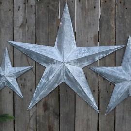 Stjerne i zink til væg - H73 cm.